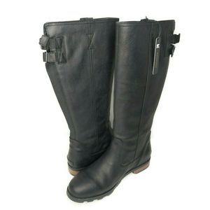 SOREL Emelie Tall Premium Black Leather Boots